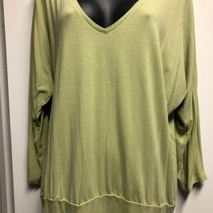 Green/Yellow Long Sleeved Top.